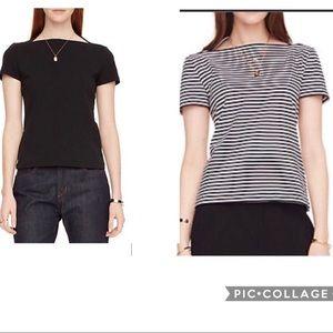 Set of 2: Kate Spade Brooke St boatneck shirts